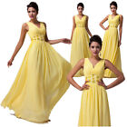 2014 Sexy Women's V-Neck Bridesmaid Wedding Prom Ball Gowns Evening Party Dress