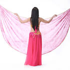 New Style Belly Dance Tie-dye Color Chiffon Semicircle Scarf Shawl Veil 8 colors
