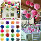 "5pcs 6"" 8"" 10"" 12"" 14"" Tissue Paper Pom Poms Flowers Balls Wedding Party Decor"