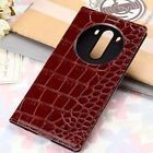 Luxury Crocodile View Screen Smart Slim Flip Leather Case Cover For LG G3