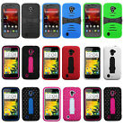 HEAVY DUTY IMPACT RUBBER SKIN + HARD CASE for ZTE Model Cell Phones