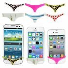 Silicone Sexy Underwear Thong Pants Home Button Case For iPhone 4 4S 5 5S 6 6+