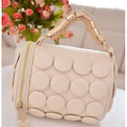 Fashion Tassel Pillow Bucket Button Women Handbag Mini Leather like Shoulder Bag