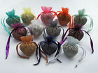 10 Heart shaped Organza Bags Wide range of colours Empty self fill
