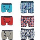 Mens Crosshatch Draughts Check And Plain Twin Pack Designer Shorts Boxers
