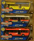 TEAMSTERZ DIECAST RED YELLOW or BLUE TOY SINGLE DECKER BRITISH LONDON BUS MODEL