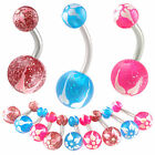 belly navel ring glitter button bar piercing body jewelry 9ICQ-PICK STYLE&SIZE