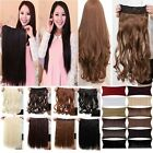 real silky 17/23 clips in hair extension 3/4 Full Head straight curly on sale wm