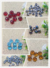 Wholesale 20pcs 8mm Colorful Crystal Glass Gemstone Rondelle Spacer Loose Bead