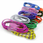 Colorful Braided Flat 3FT USB Sync Data Charger Cable Cord fit Apple iPhone 4/4S