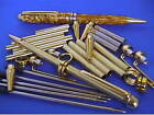 Woodturning Pen Kits x 5 - European - Gold/Chrome/Gun Metal/Copper/Satin Silver
