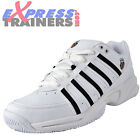 K Swiss Mens Vibrant IV Classic Court Leather Cross Trainers White * AUTHENTIC *