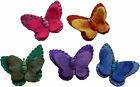 FAIR TRADE FELT BUTTERFLY BROOCH COAT PIN CORSAGE - 5 PACK