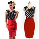 Promotion! Vogue OL Women Workwear Polka Dots Evening Party Pencil Wiggle Dress