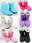 Hot Women's Girl's Paillette Shinning Christmas Shoes Sock Slippers Indoor Boots