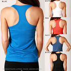 Women's POLY T-BACK Fit Tank Top DRY Technology RUNNING Gym Training Workout NEW