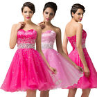 PINK Short / Mini Cocktail Bridesmaid Party Evening Gown Prom Graduation Dresses