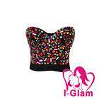 Sexy Costume Corset Sequin Gem Stone Studded Top Stage Wear Rave Bustier