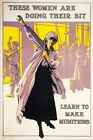 World War One Munitions Factory Recruitment  Poster A3/A2/A1 Print