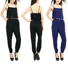 UK Fashion Womens All In One  Siamese Trousers Strappy Jumpsuit Playsuit
