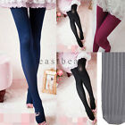 Hot Womens Cable Knit Cotton Sweater Tights Skinny Stretch Footed Leggings Pants