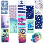 Anchor Elephant Leather Wallet Card Holder Stand Case Skin Cover For Huawei Y300