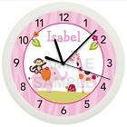PINK SAFARI NURSERY WALL CLOCK NURSERY SWEET PERSONALIZED BABY SHOWER GIFT