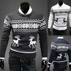 2014 Men's Vintage Jumper Sweater Christmas Xmas Rudolph Winter Fairisle UKLO