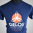 Delos Westworld Retro Sci Fi Movie T Shirt Yul Brynner Futureworld Vintage Cult