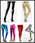 Ladies Metallic Hot Wet Look Shiny Sexy Full Ankle Length Leggings/Tights--HQ*