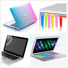 """4in1 Rainbow Rubberized Case Key Plugs Screen For Macbook Pro 13/15 &Air 11""""/13"""""""