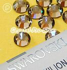 GENUINE Swarovski Greige (284) Iron On glass Crystal Flat back Hotfix Rhinestone