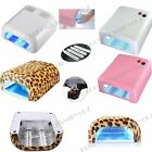 36W Gel Polish Curing UV Lamp Nail Art Shellac Dryer With Timer & 4 Bulbs UK