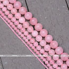 1 Strand 2-10mm Natural Gemstone Rose Quartz Round Loose Beads For Jewelry DIY