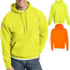 Hanes Mens Hooded Sweatshirt Safety Green Orange ANSI Hoodie S-3XL NEW