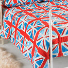 Linens Limited Jubilee Union Jack Print Quilted Bedspread, Blue/Red