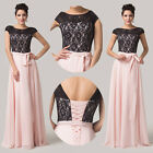 2015 Splicing Lace+Chiffon Long Wedding Prom Gown Party Bridesmaid Evening Dress
