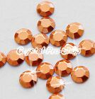 Copper ( Any Size ) hot fix Iron On Faceted rhinestuds Shine 6ss 10ss 16ss 20ss
