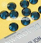 GENUINE Swarovski Montana (207) Hotfix Rhinestone Iron On Round Crystal Bead Gem