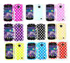 White Polka Dots Cover for Samsung illusion / Galaxy Proclaim i110 Faceplate Case