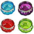 Assorted Moroccan Coloured Glass T-Light Tealight T-light Holders Silver Rim