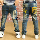 Spring Autumn Boy Baby Child Kids Easy R Yellow Pockets Jeans Trousers 3-10Y