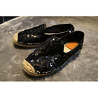 Women Straw Rope Fisherman Sequined Casual Loafers Comfort Round Toe Flats Shoes