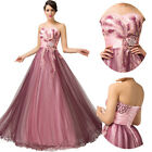 Applique Tulle Wedding Dress Bridal Gown Prom Evening Dresses Stock Size 6----20