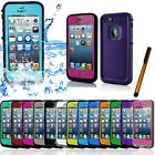 PC Waterproof Shockproof Dirt Proof Durable Hard Cover Case For+Pen iPhone 5s 5