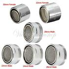 New Tap Aerator Water Saving Male Female Chrome Filter Spout End Diffuser Filter