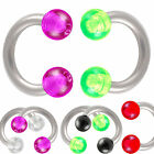 2Pc circular barbell horseshoe ring tragus eyebrow piercing 9IBC-PICK COLOR&SIZE