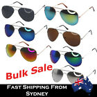 Bulk Aviator Sunglasses Mirror Reflective Lens Unisex Party Theme 10 20 50 Pairs