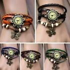 5 Color Womens Girl Fashion Butterfly Bracelet Watch Quartz Movement Wrist Hot J
