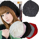 Hot Women Stylish Casual Beautiful GIRL'S BERET BRAIDED BAGGY BEANIE HAT CAP O